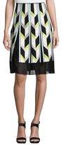 Emilio Pucci Sequined Silk A-Line Skirt, Nero