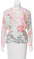 Tanya Taylor Printed Silk Top