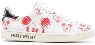 Moa Master Of Arts Mickey Mouse-print low-top sneakers