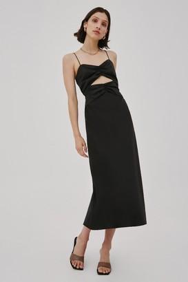 C/Meo CONTEMPO SHORT SLEEVE DRESS Black