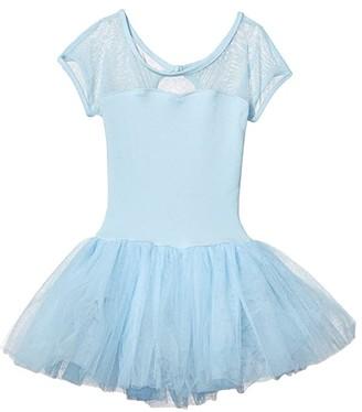 Capezio Keyhole Back Tutu Dress (Toddler/Little Kids/Big Kids) (Light Blue) Girl's Jumpsuit & Rompers One Piece