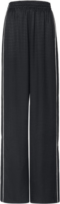 Balenciaga Houndstooth Jacquard Wide-Leg Track Pants