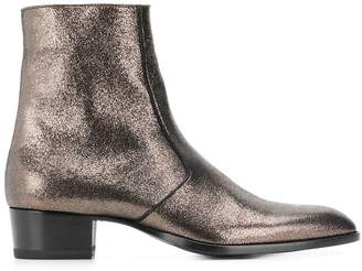 Saint Laurent almond toe ankle boots