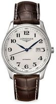 Longines Master Round Leather Strap Watch