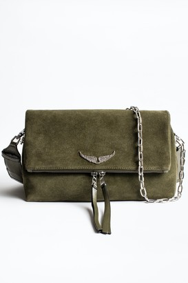 Zadig & Voltaire Rocky Suede Patent Bag