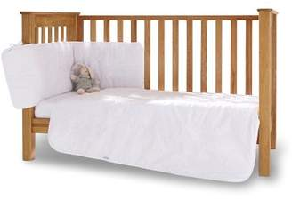 Clair De Lune Broderie Anglaise 3 Piece Cot Bed Bedding Set