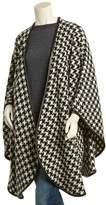 Sofia Cashmere Sofiacashmere Leather-trim Alpaca & Wool-blend Cape.