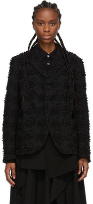 Comme des Garcons Black All Over Embroidery Blazer