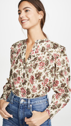 Rebecca Taylor Long Sleeve Chouette Top