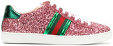 Gucci ace glitter sneakers - women - Cotton/Lamb Skin/Leather/rubber - 35