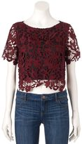 JLO by Jennifer Lopez Women's Lace Crop Top