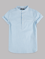 Autograph Pure Cotton Popover Shirt (3-14 Years)
