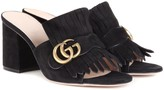 Gucci Marmont suede slip-on sandals