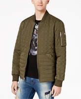 GUESS Men's Joel Quilted Full-Zip Bomber Jacket