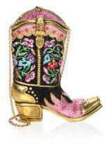 Judith Leiber Cowboy Boot Shoulder Bag