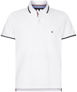 Tommy Hilfiger Cotton Basic Tipped Polo Shirt with Short Sleeves