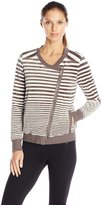 Calvin Klein Women's Variegated Stripe Velour Jacket