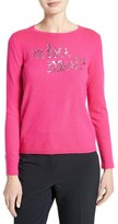 Kate Spade Who Moi Sequin Wool Blend Sweater