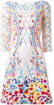 Peter Pilotto printed boat neck dress