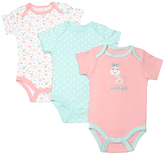 Cutie Pie Baby Aqua & Pink Bodysuit Set - Infant