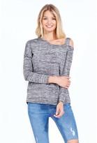 Select Fashion Fashion One Shoulder Marl Oversized Top Boleros - size 8