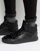 Asos High Top Sneakers In Black