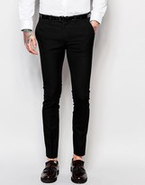 Mens Super Skinny Trousers - ShopStyle UK