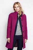 Classic Women's Luxe Wool Car Coat-Umber