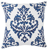 Southern Living Damask-Embroidered Square Pillow