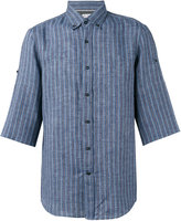 Brunello Cucinelli striped shirt - men - Cotton/Linen/Flax - S