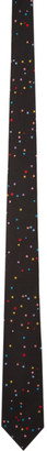 Paul Smith Black Silk Polka Dot Tie