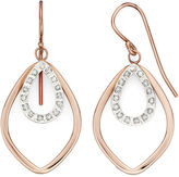 JCPenney FINE JEWELRY Diamond Fascination 18K Rose Gold Over Sterling Silver Layered Drop Earrings