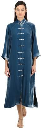 Yali Lvr Exclusive Silk Velvet Long Jacket