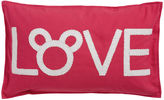 Ethan Allen Mickey Mouse Love Pillow, Minnie Pink