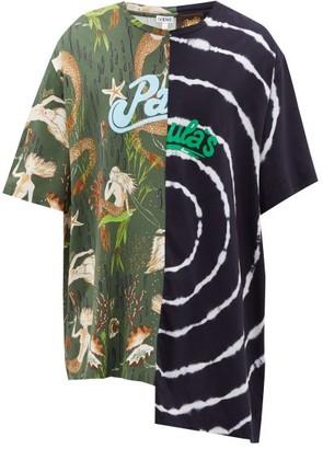 Loewe Paula's Ibiza - Asymmetric Mermaid-print Cotton Jersey T-shirt - Multi