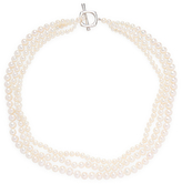 Sterling Silver with Diamond & Pearl Necklace