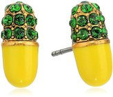 Marc Jacobs Spring 2017 Strass Pill Yellow Stud Earrings
