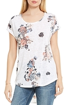 Vince Camuto Floral Print High/Low Tee