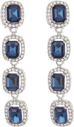 Carolee Crystal Large Linear Earrings