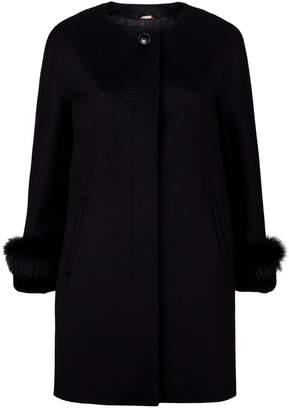 Max Mara Fur Trim Wool Coat