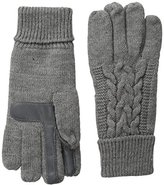 Isotoner Women's Solid Triple Cable Knit smarTouch Gloves