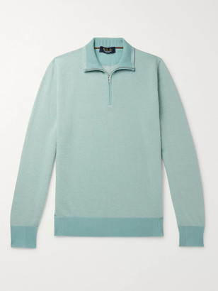 Loro Piana Roadster Cashmere Half-Zip Sweater - Men - Green