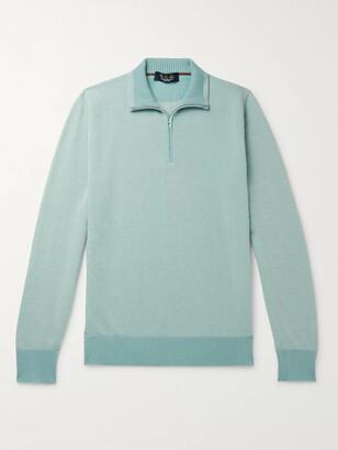 Loro Piana Roadster Striped Cashmere Half-Zip Sweater - Men - Green
