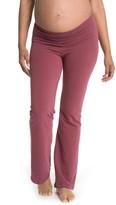 Women's Bun Maternity Cozy Wide Leg Foldover Maternity Pants