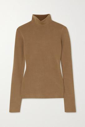 Joseph Silk-blend Turtleneck Sweater - Mustard