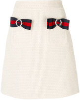 Gucci light tweed bow mini skirt