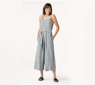 Splendid Striped Belted Jumpsuit - Sela