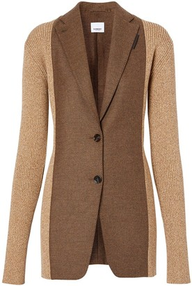 Burberry Rib Knit Tailored Jacket