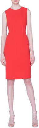 Akris Wool-Crepe Sleeveless Sheath Dress