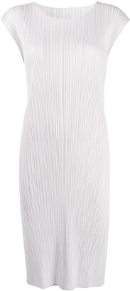 Pleats Please Issey Miyake Pleated Column Dress